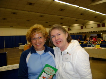 Ginny Greene and customer Wanda Stayton at Book and Author Festival, 2009